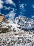 Beautiful mountain range in full sun in winter Royalty Free Stock Photos