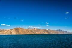 Pangong lake beautiful Mountain, Leh Ladakh, India. A beautiful mountain range near pangong lake and a clearly sky stock photography