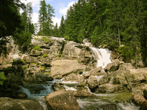 A beautiful mountain river landscape in Tatry. Slovakia royalty free stock images