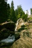 A beautiful mountain river landscape in Tatry. Slovakia stock image