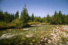 A beautiful mountain river landscape in Tatry. Slovakia stock photography