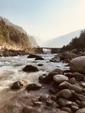 Beautiful mountain and river royalty free stock photography