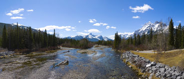 Beautiful mountain river scene Stock Images