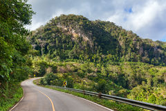 Beautiful mountain road in Doi Ang Khang National Park Stock Images