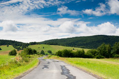 Beautiful mountain road and landscape Royalty Free Stock Photography