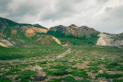 Beautiful mountain road. At Mt. Azuma,Fukushima Prefecture,Japan stock photography