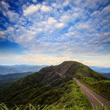 Beautiful mountain road with sky Royalty Free Stock Photo