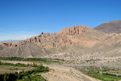Beautiful mountain rocky valley near Tilcara, Argentina Royalty Free Stock Images