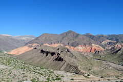 Beautiful mountain rocky valley near Tilcara, Argentina Stock Images