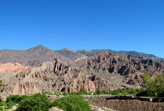 Beautiful mountain rocky valley near Tilcara, Argentina Royalty Free Stock Photo