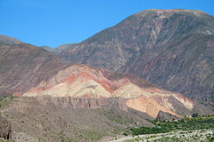Beautiful mountain rocky valley near Tilcara, Argentina Royalty Free Stock Photography