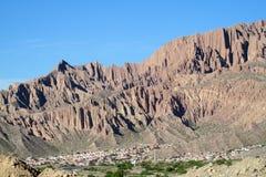 Beautiful mountain rocky valley near Tilcara, Argentina Royalty Free Stock Photography