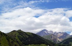 beautiful mountain scenery 雪峰顶 库存图片