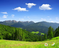Beautiful mountain scenery. Bruneck, Italy Alps Royalty Free Stock Photo