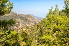 Beautiful mountain scenery of Greece. Peloponnese royalty free stock images