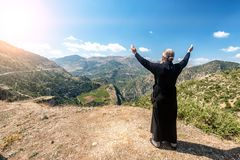 Beautiful mountain scenery of Greece. Peloponnese stock images