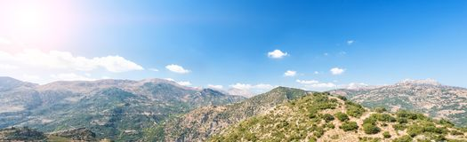 Beautiful mountain scenery of Greece. Peloponnese royalty free stock photography