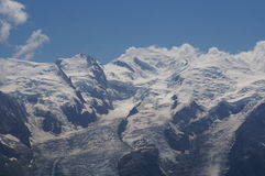 Beautiful mountain scenery - Mont Blanc. Scenic landscape in the mountains - Mont Blanc close up Stock Photos