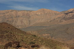 Beautiful mountain scenery near Jebel Shams, Oman Stock Image