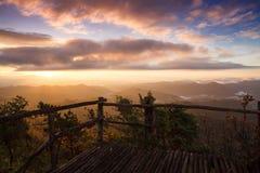 Beautiful mountain scenery sunrise Royalty Free Stock Photography