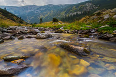 Beautiful mountain scenery in the Transylvanian Alps in summer Stock Images