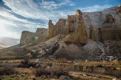 Free Beautiful Mountain Sierra In Desert Canyon Boszhira In Ustyurt Plateau, Kazakhstan Royalty Free Stock Image - 102114436