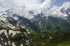 Beautiful mountain with spots of snow Grossglockner Austria Royalty Free Stock Photos