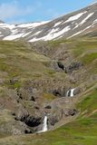 Beautiful mountain stream in Western Iceland royalty free stock photos