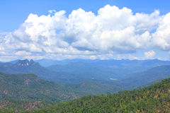 Beautiful mountain. Beautiful summer mountain high complex in thailand Royalty Free Stock Image