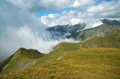 Beautiful mountain summer scenery. Fagaras mountains, Romania Royalty Free Stock Image