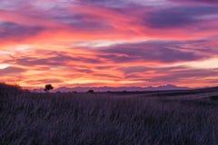 Beautiful Mountain Sunset Stock Photography