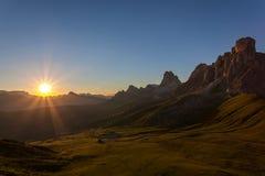 Beautiful mountain sunset scenery Stock Photography