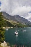 Beautiful mountain Swiss lake Royalty Free Stock Photo