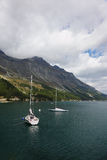 Beautiful mountain Swiss lake Royalty Free Stock Image