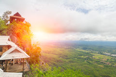 Beautiful Mountain Temple in Lampang, North of Thailand, Unseen in Thailand Royalty Free Stock Image