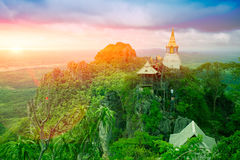 Beautiful Mountain Temple in Lampang, North of Thailand, Unseen in Thailand. Stock Photo