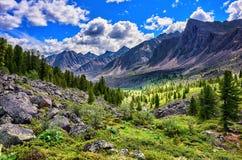Beautiful mountain terrain in Eastern Siberia Stock Photo