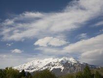 Beautiful mountain top. Of Mount Timpanogos in Utah Stock Photo