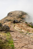 Beautiful mountain trail path near Pico do Arieiro on Madeira island, Portugal Stock Photos