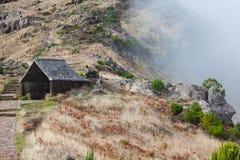 Beautiful mountain trail path near Pico do Arieiro on Madeira island, Portugal Stock Images