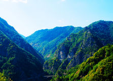 Beautiful mountain Transfagarasan valley. A view of a beautiful mountain valley as seen while traveling the Transfagarasan, a very important and scenic paved Stock Images