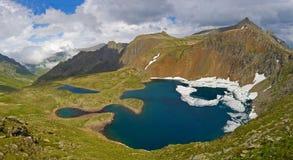 Beautiful mountain valley panorama Stock Photos