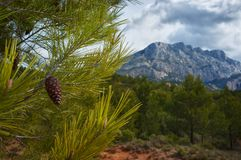Beautiful mountain view Royalty Free Stock Images
