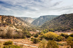 Beautiful mountain view of Cyprus near Pafos Royalty Free Stock Images