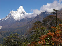 Beautiful mountain view of Everest Region,  Nepal Royalty Free Stock Photo