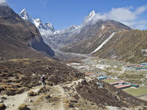 Beautiful mountain view of Everest Region,  Nepal Royalty Free Stock Photos