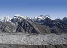 Beautiful mountain view of Everest Region,  Nepal Stock Photo