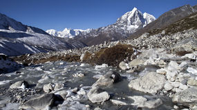Beautiful mountain view of Everest Region,  Nepal Stock Photography