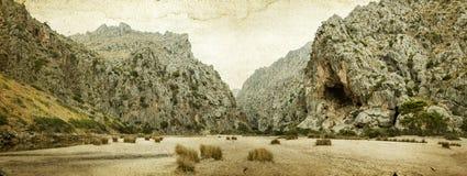 Beautiful mountain view in Mallorca Island, Spain Royalty Free Stock Photos