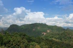 Beautiful mountain view in Pai. Meahongson , Thailand Stock Photo